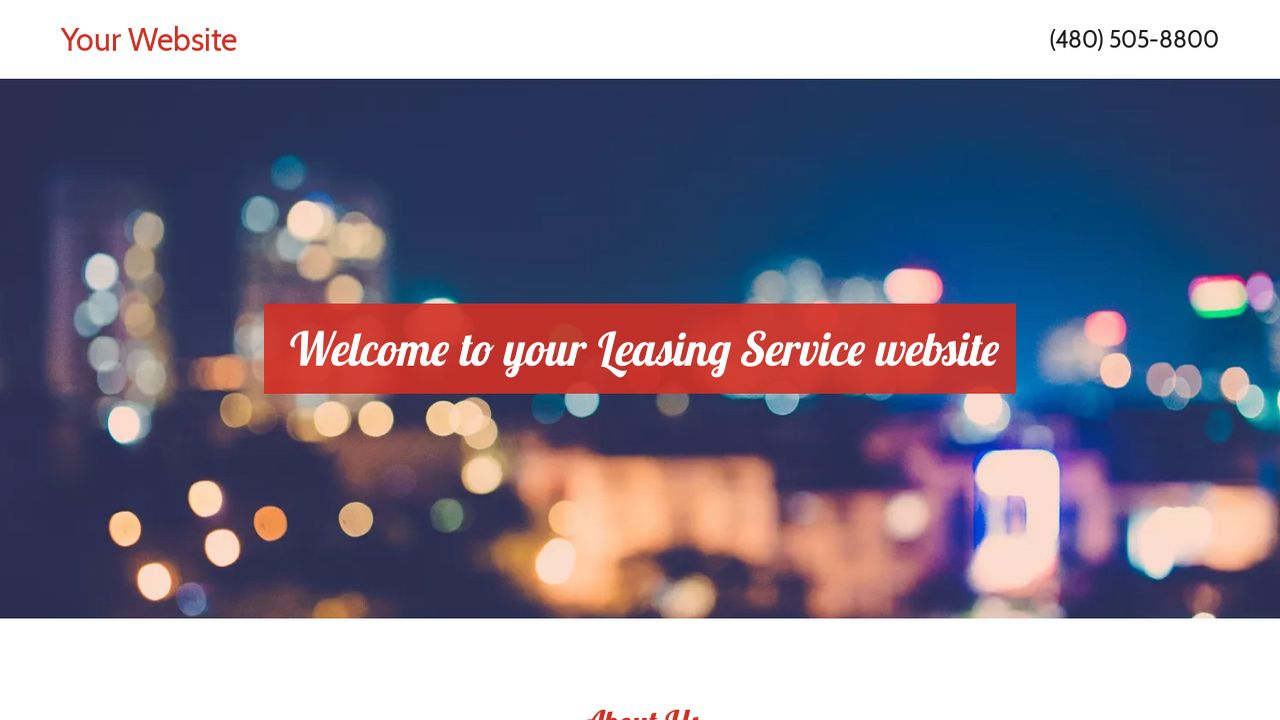 Leasing Service Website: Example 1