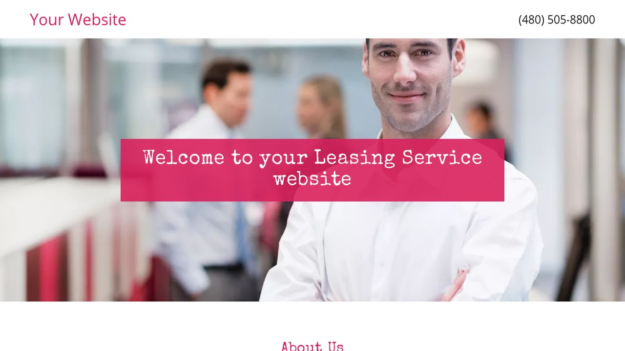 Leasing Service Website: Example 15