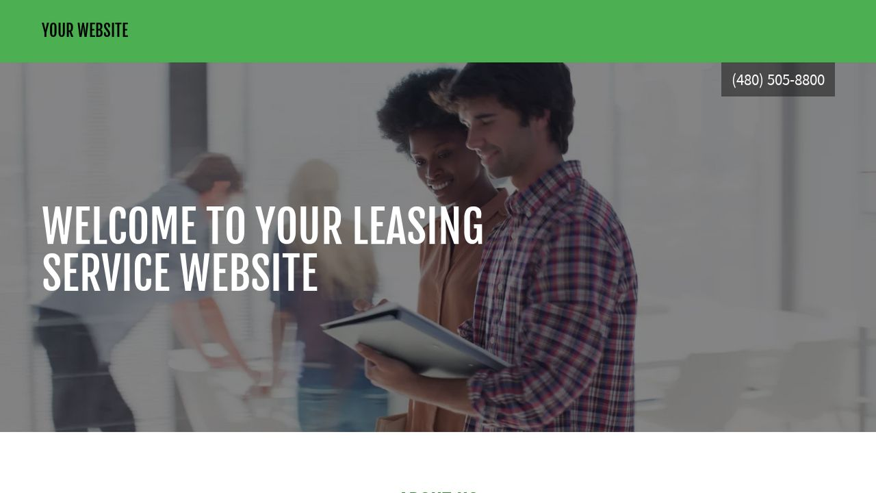 Leasing Service Website: Example 16
