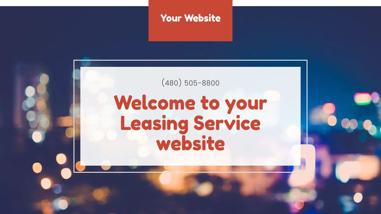 Leasing Service Website: Example 17