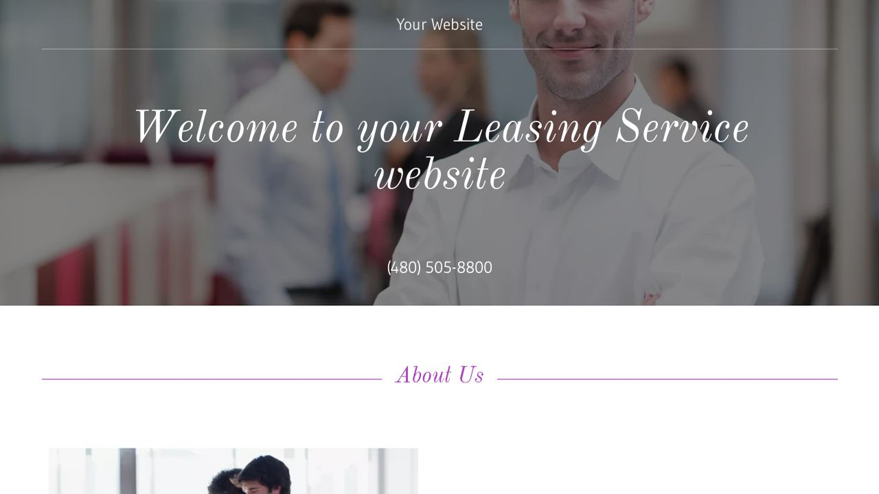 Leasing Service Website: Example 18
