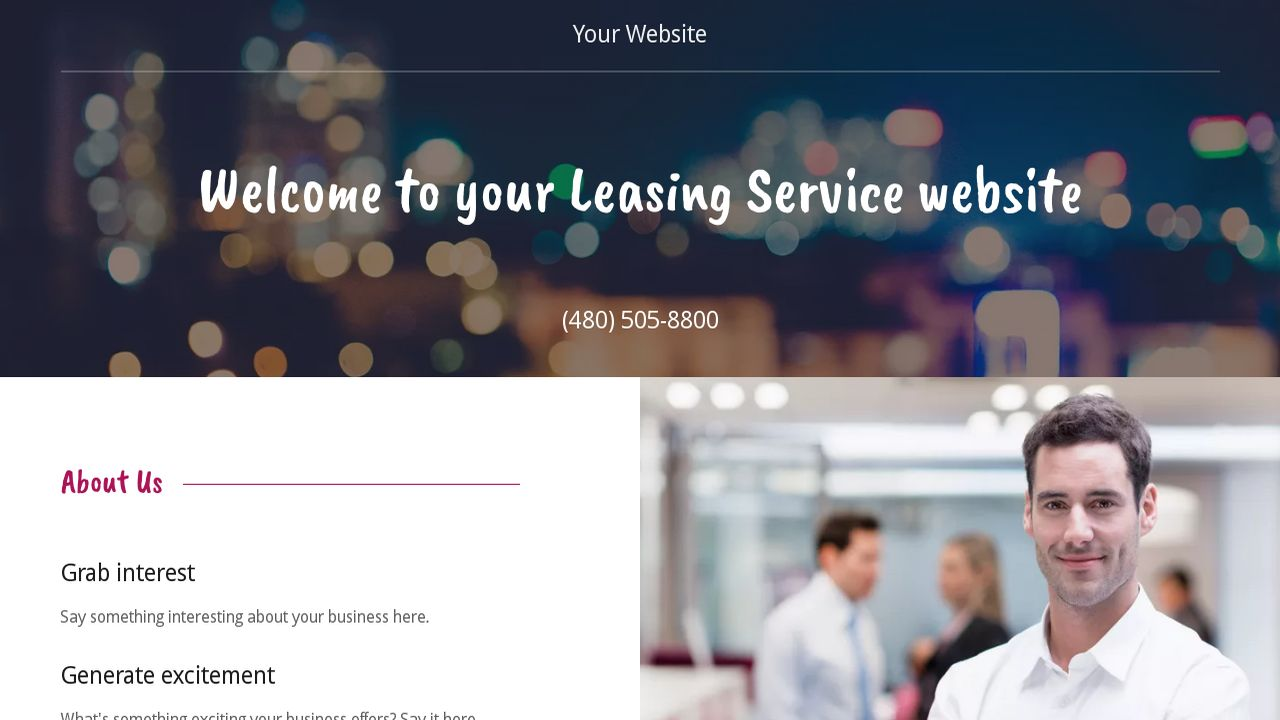 Leasing Service Website: Example 4