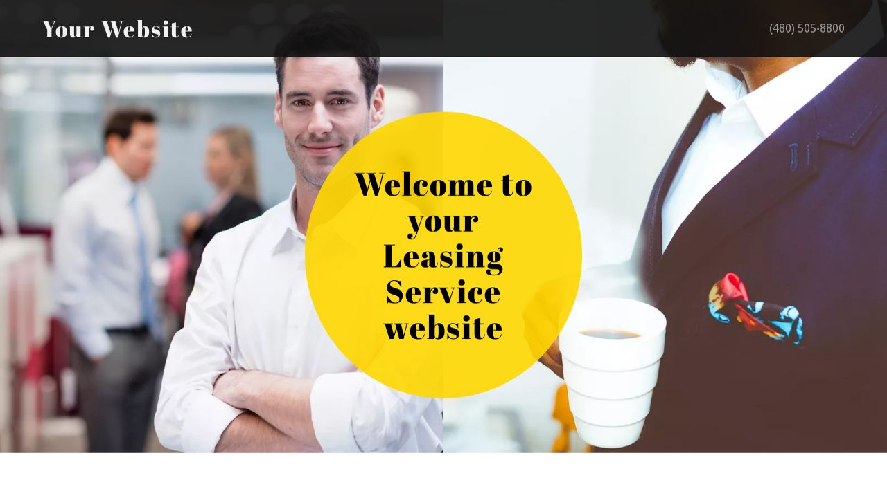 Leasing Service Website: Example 5
