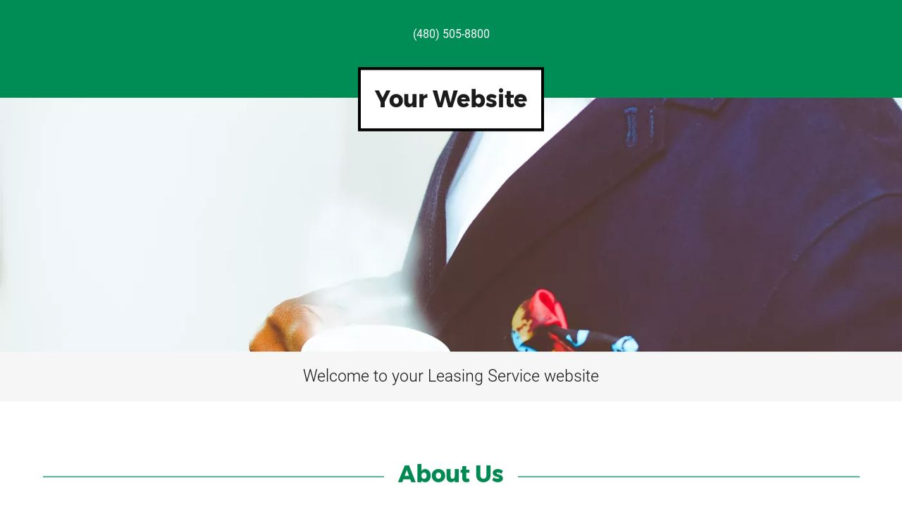 Leasing Service Website: Example 6