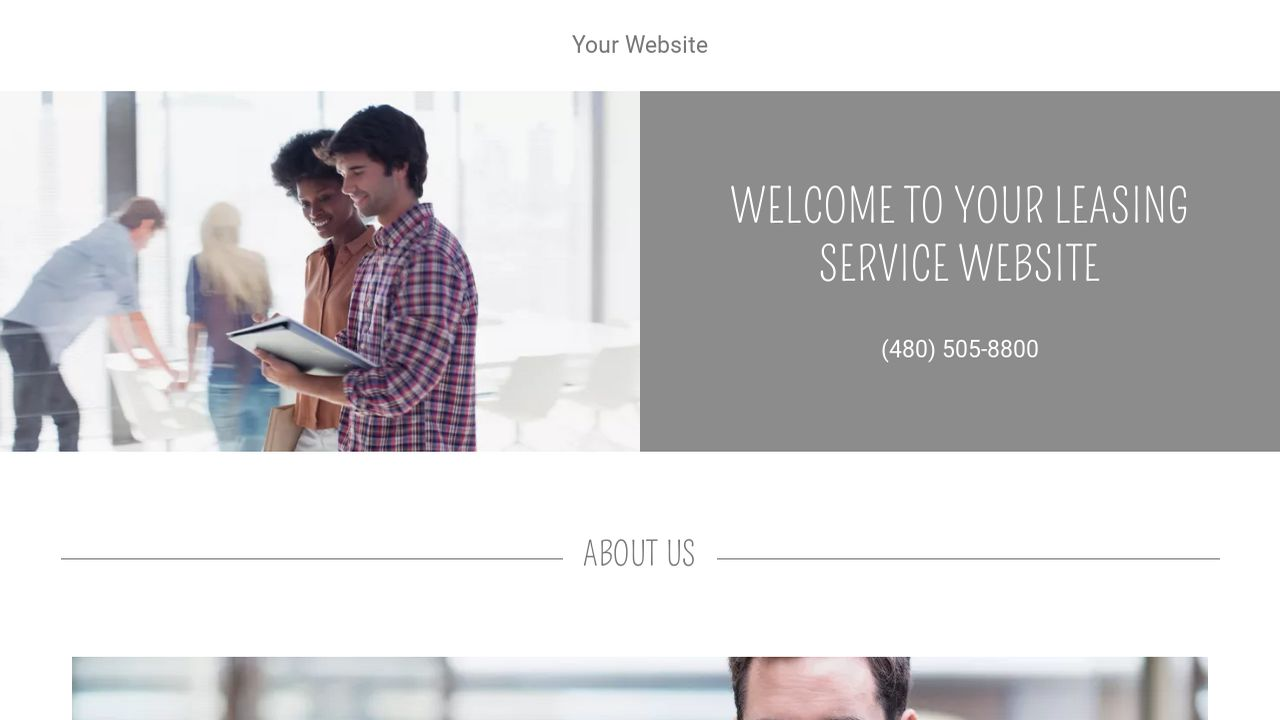 Leasing Service Website: Example 7