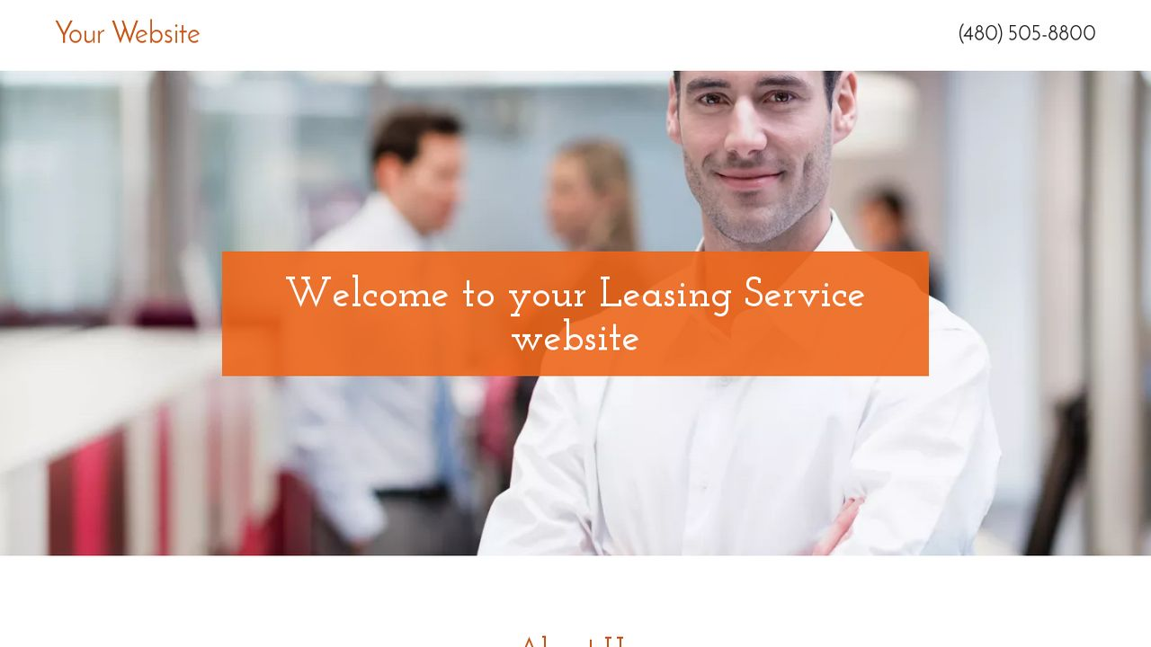 Leasing Service Website: Example 8