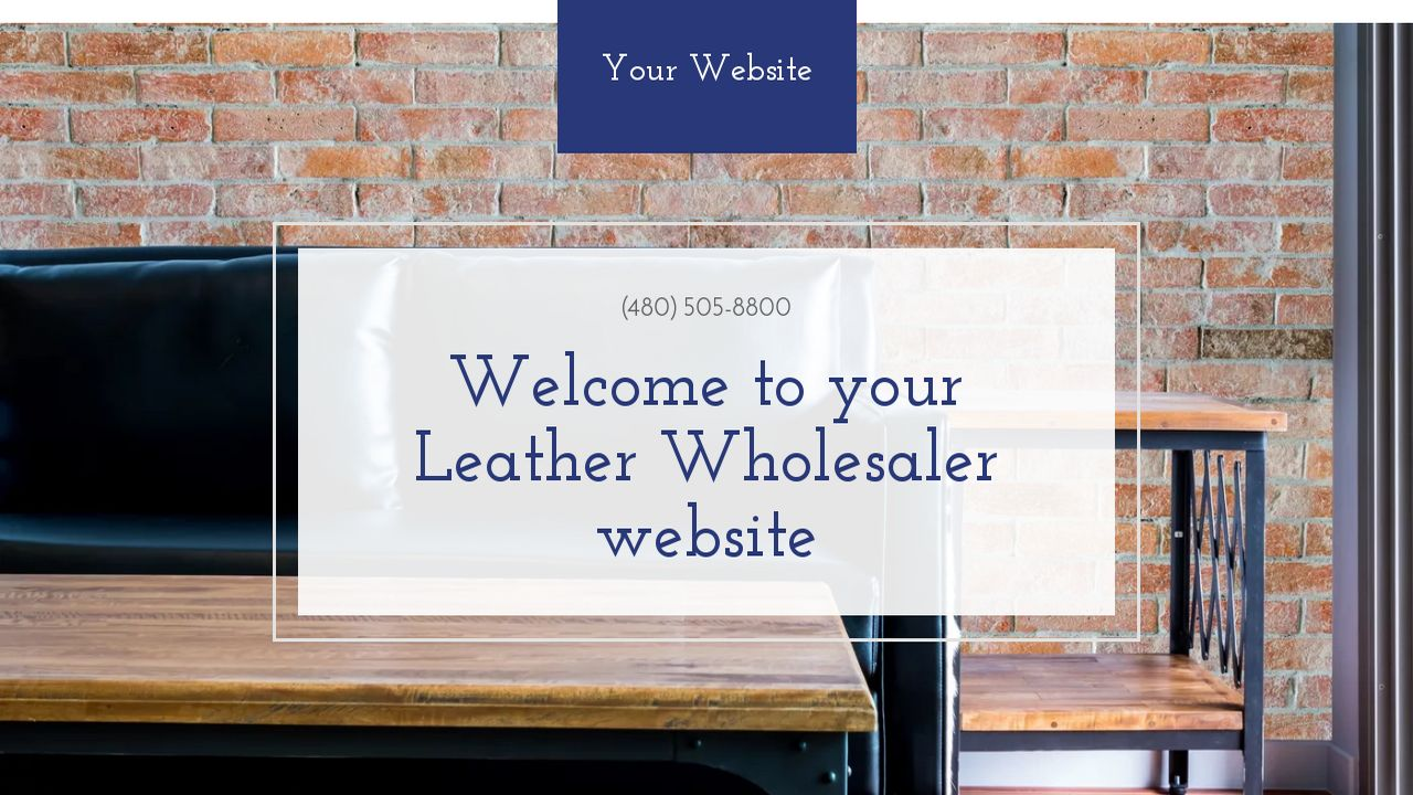 leather wholesaler website templates