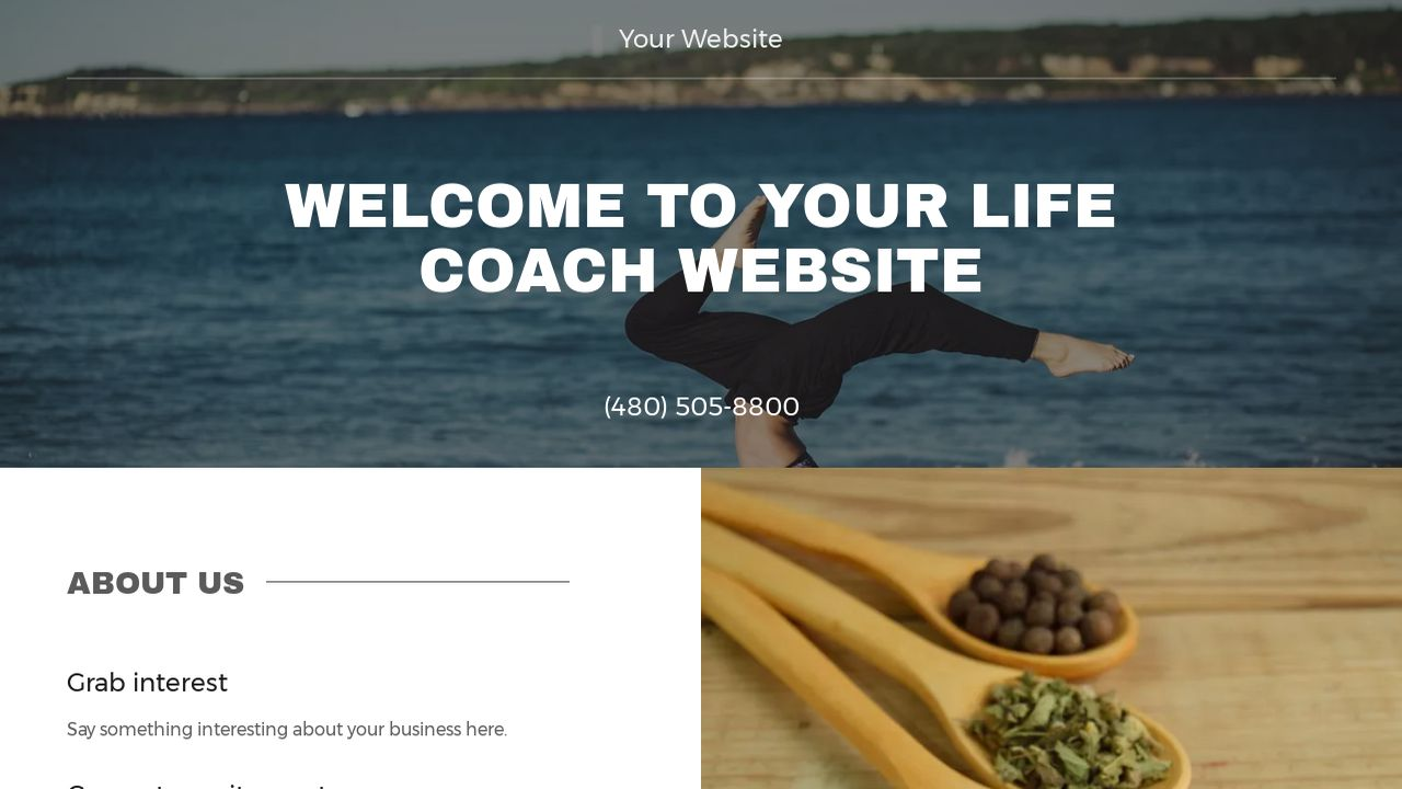 Life Coach Website: Example 13