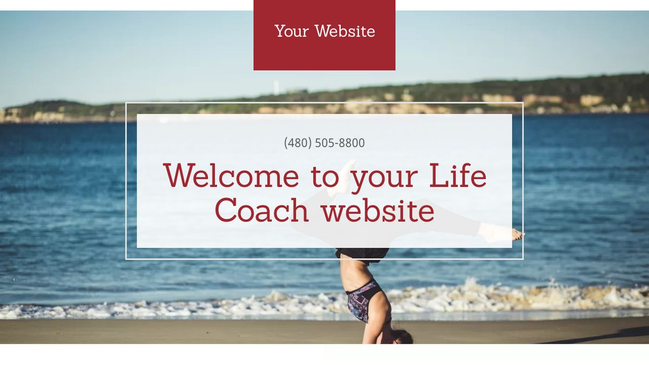 Life Coach Website: Example 3