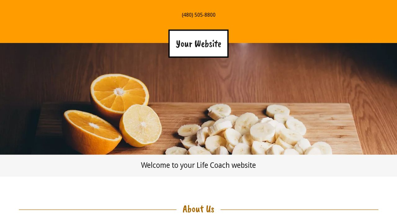 Life Coach Website: Example 4