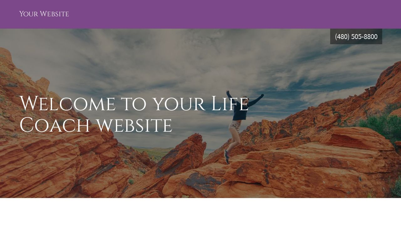 Life Coach Website: Example 5