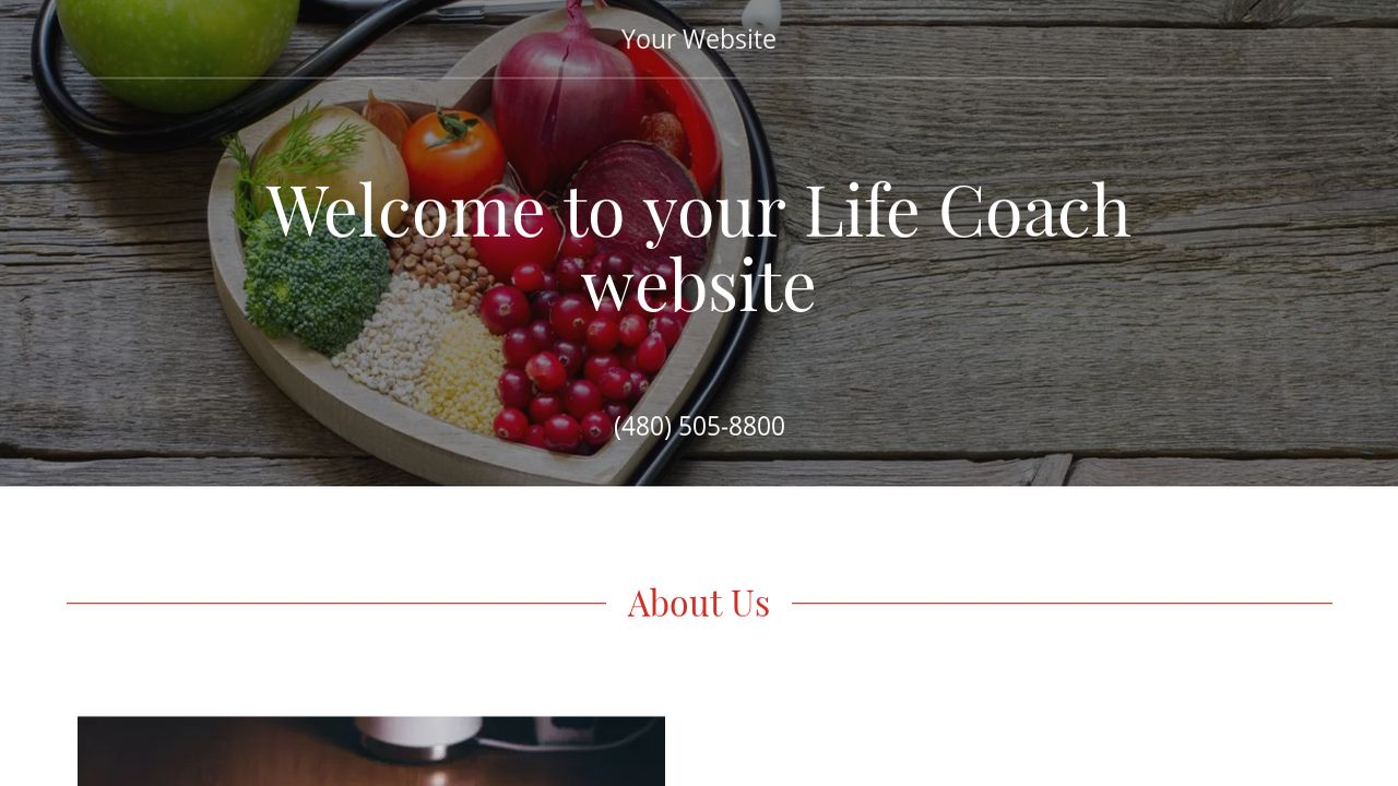 Life Coach Website: Example 6