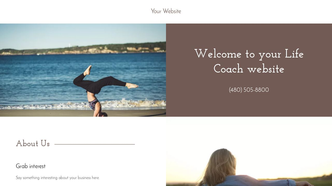 Life Coach Website: Example 8
