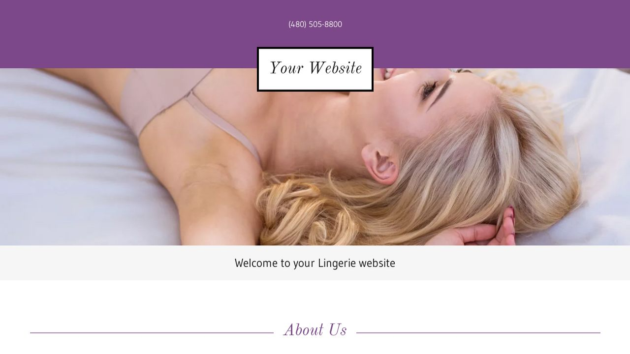 Lingerie Website: Example 12