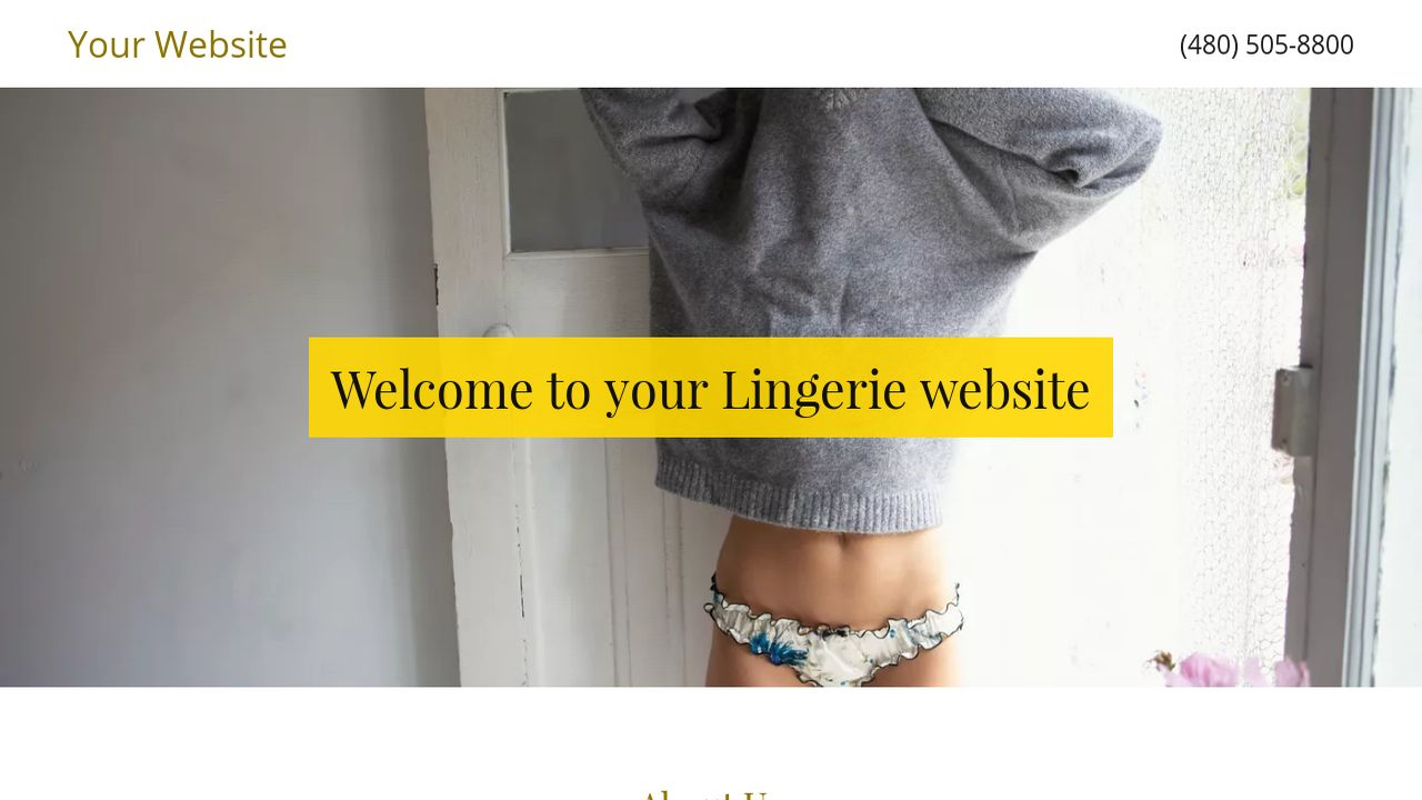 Lingerie Website: Example 3