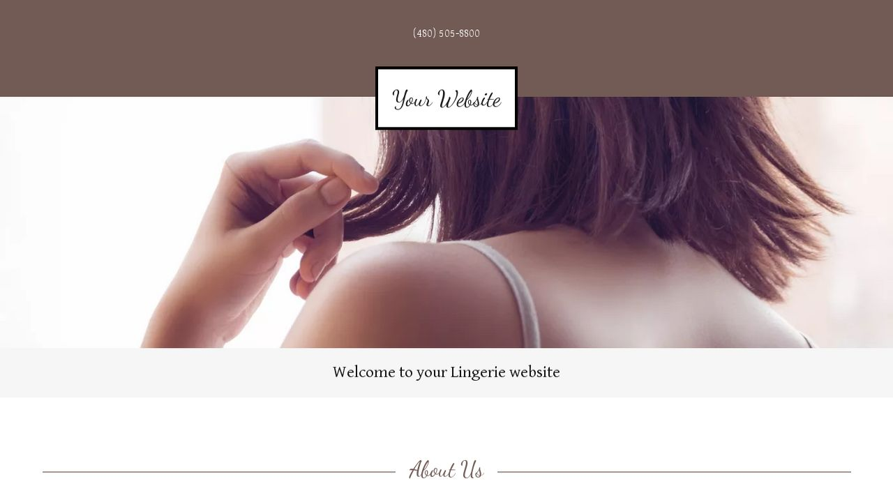 Lingerie Website: Example 5