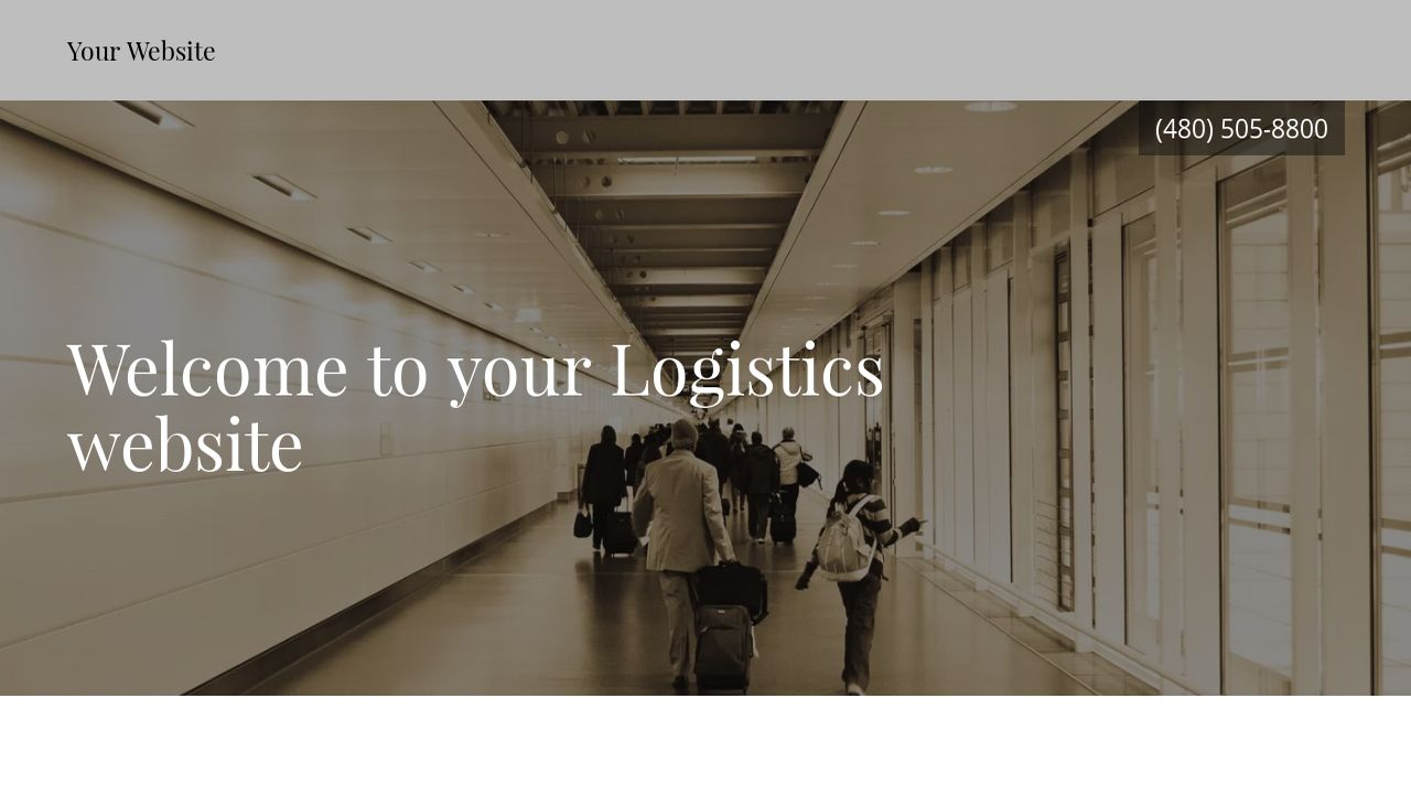 Logistics Website: Example 16