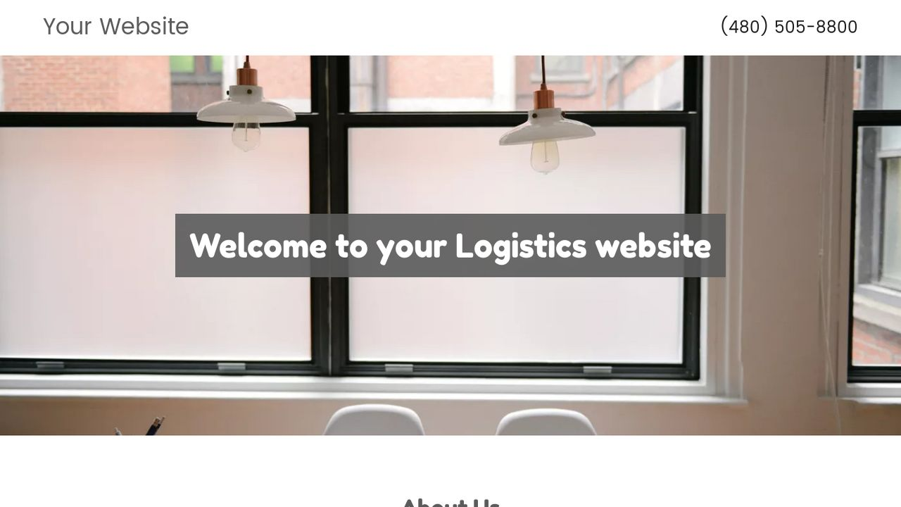 Logistics Website: Example 3