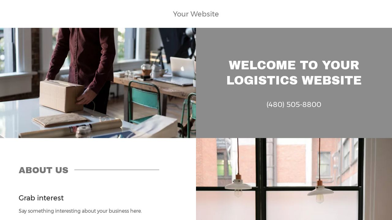 Logistics Website: Example 4