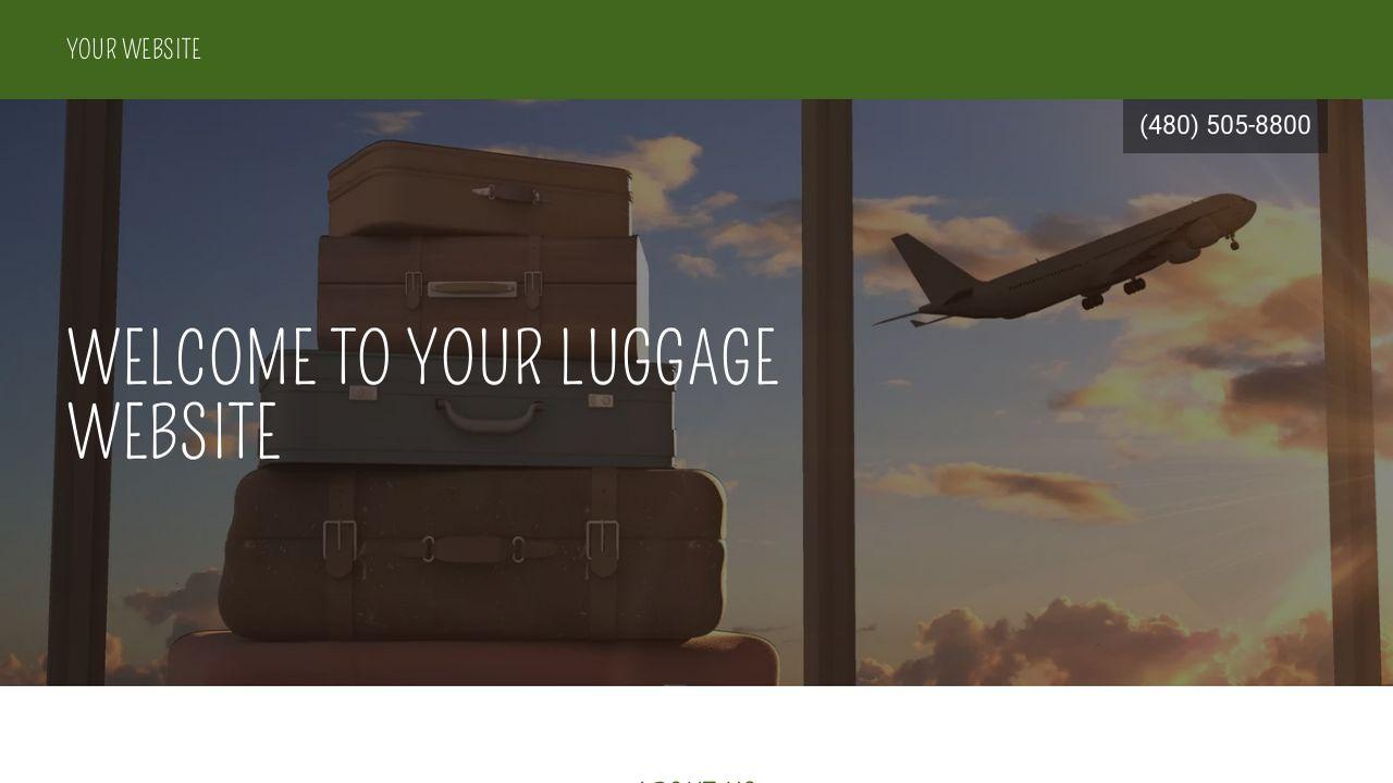 Luggage Website Templates | GoDaddy