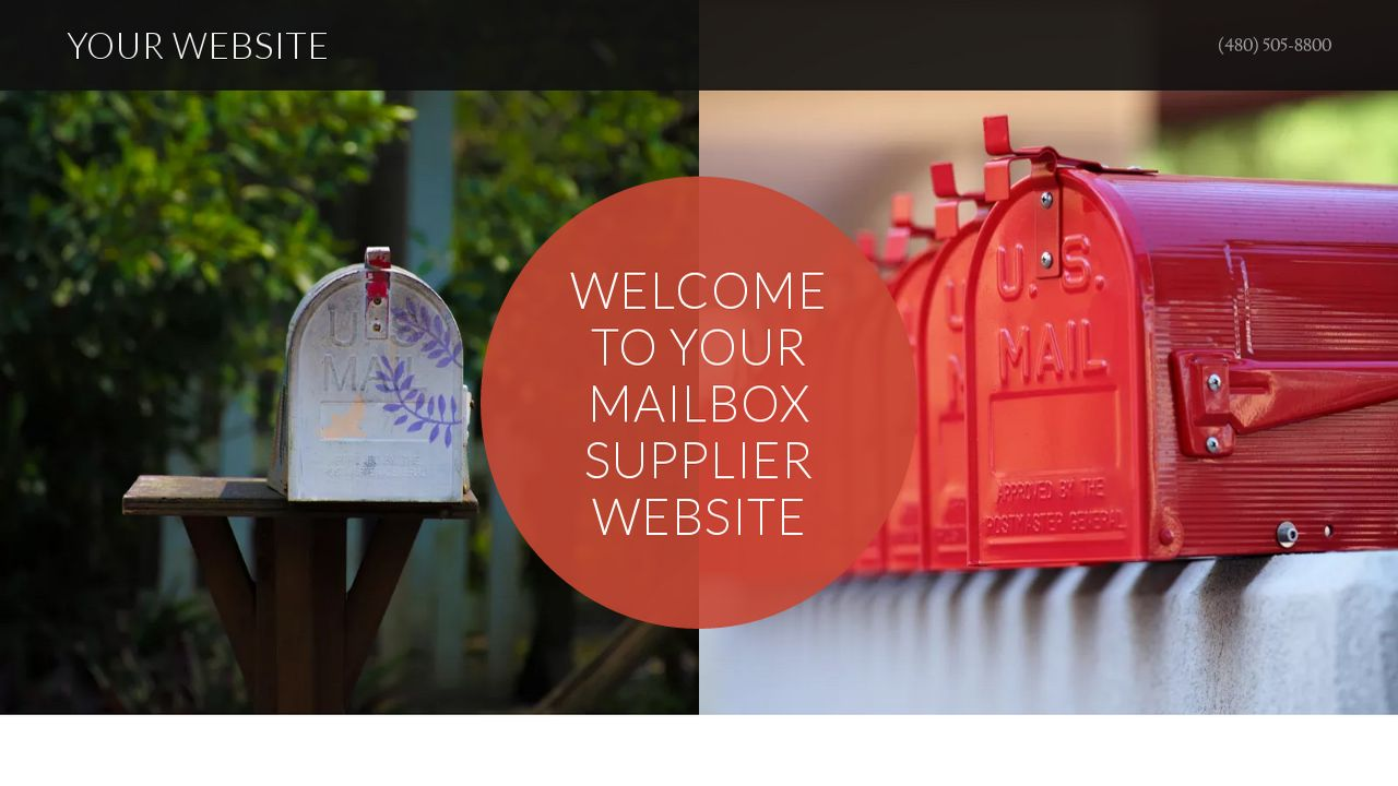 Mailbox Supplier Website: Example 1