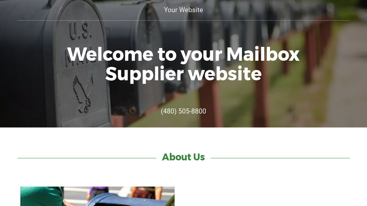 Mailbox Supplier Website: Example 10