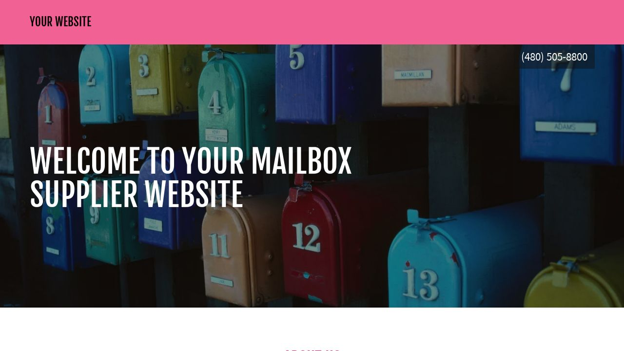 Mailbox Supplier Website: Example 13