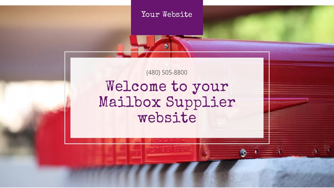 Mailbox Supplier Website: Example 14
