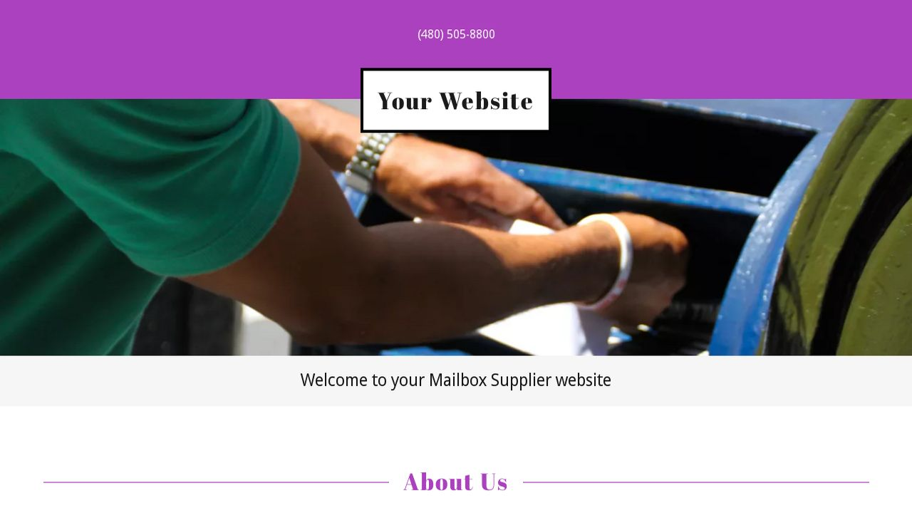 Mailbox Supplier Website: Example 16