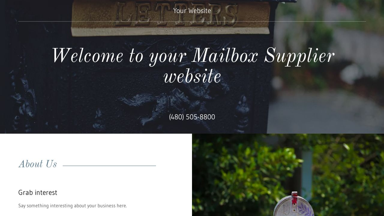 Mailbox Supplier Website: Example 17