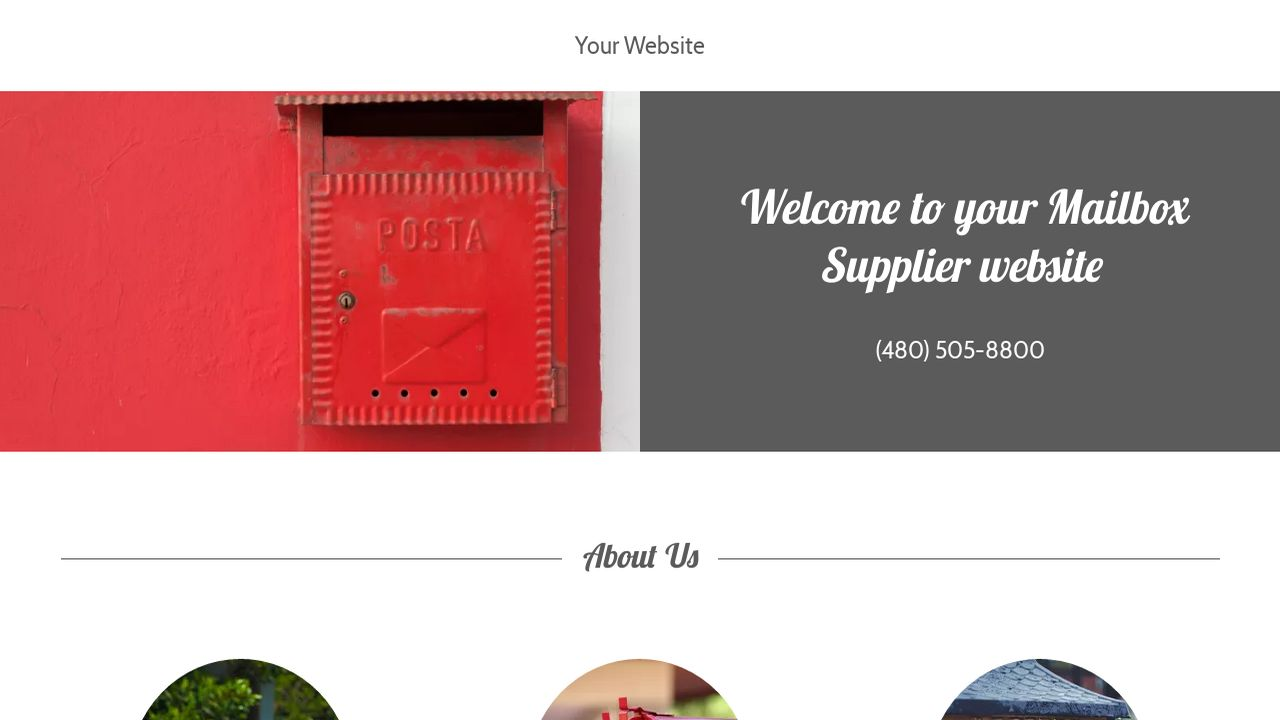 Mailbox Supplier Website: Example 18