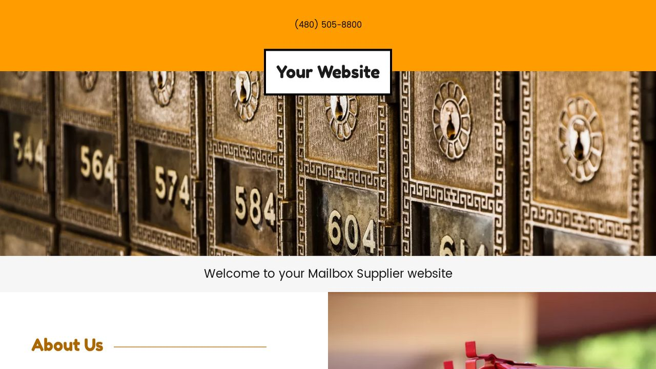 Mailbox Supplier Website: Example 2