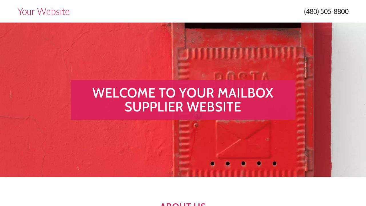 Mailbox Supplier Website: Example 5