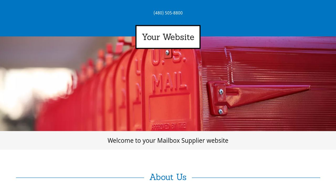 Mailbox Supplier Website: Example 9