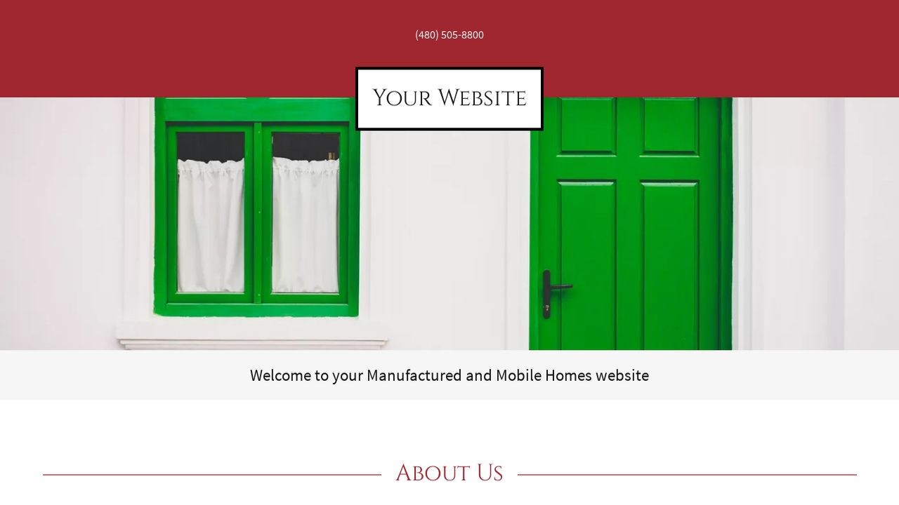 Manufactured and Mobile Homes Website: Example 1
