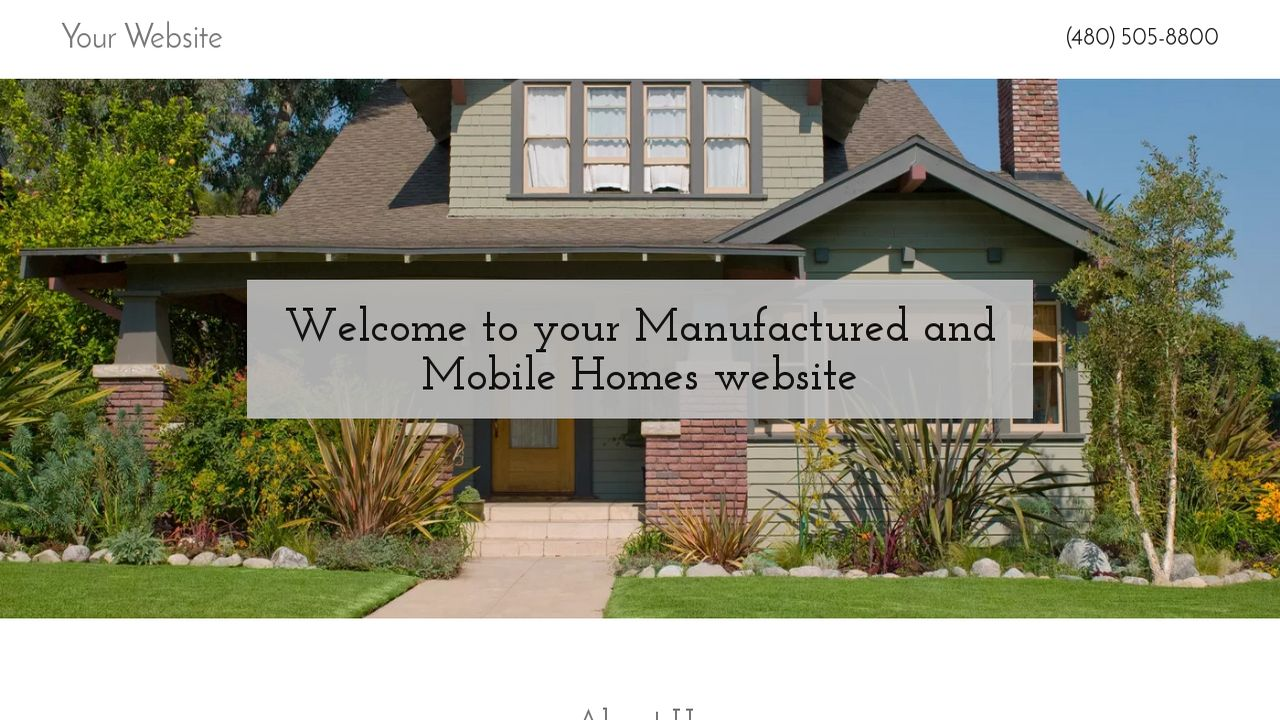 Manufactured and Mobile Homes Website: Example 12