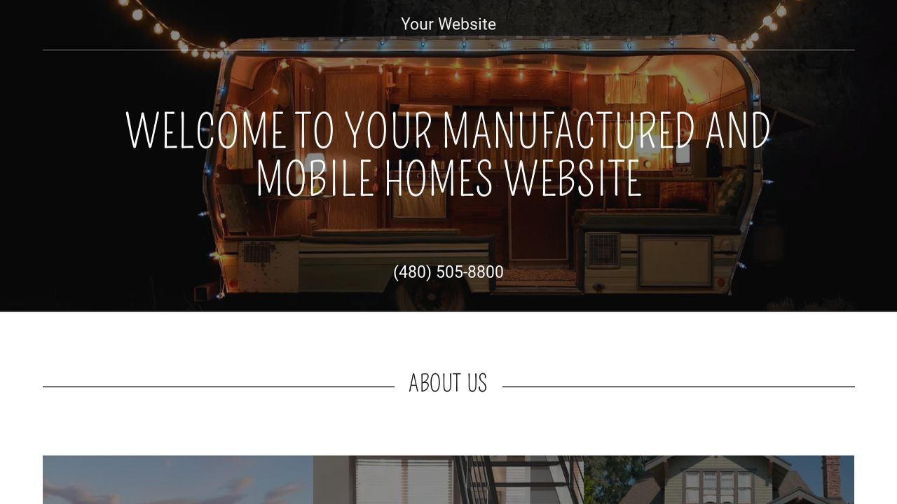 Manufactured and Mobile Homes Website: Example 13