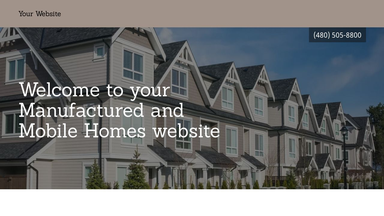 Manufactured and Mobile Homes Website: Example 4