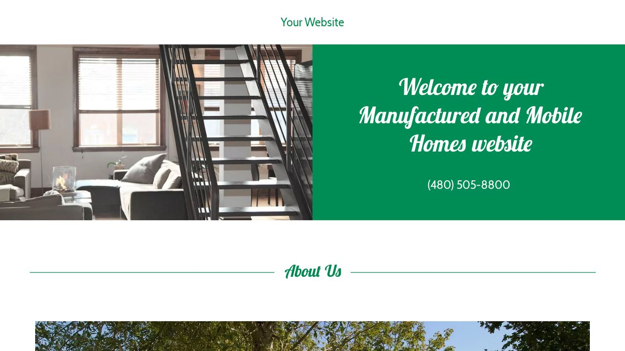 Manufactured and Mobile Homes Website: Example 7