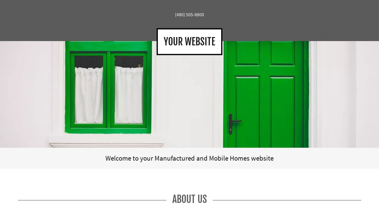 Manufactured and Mobile Homes Website: Example 8