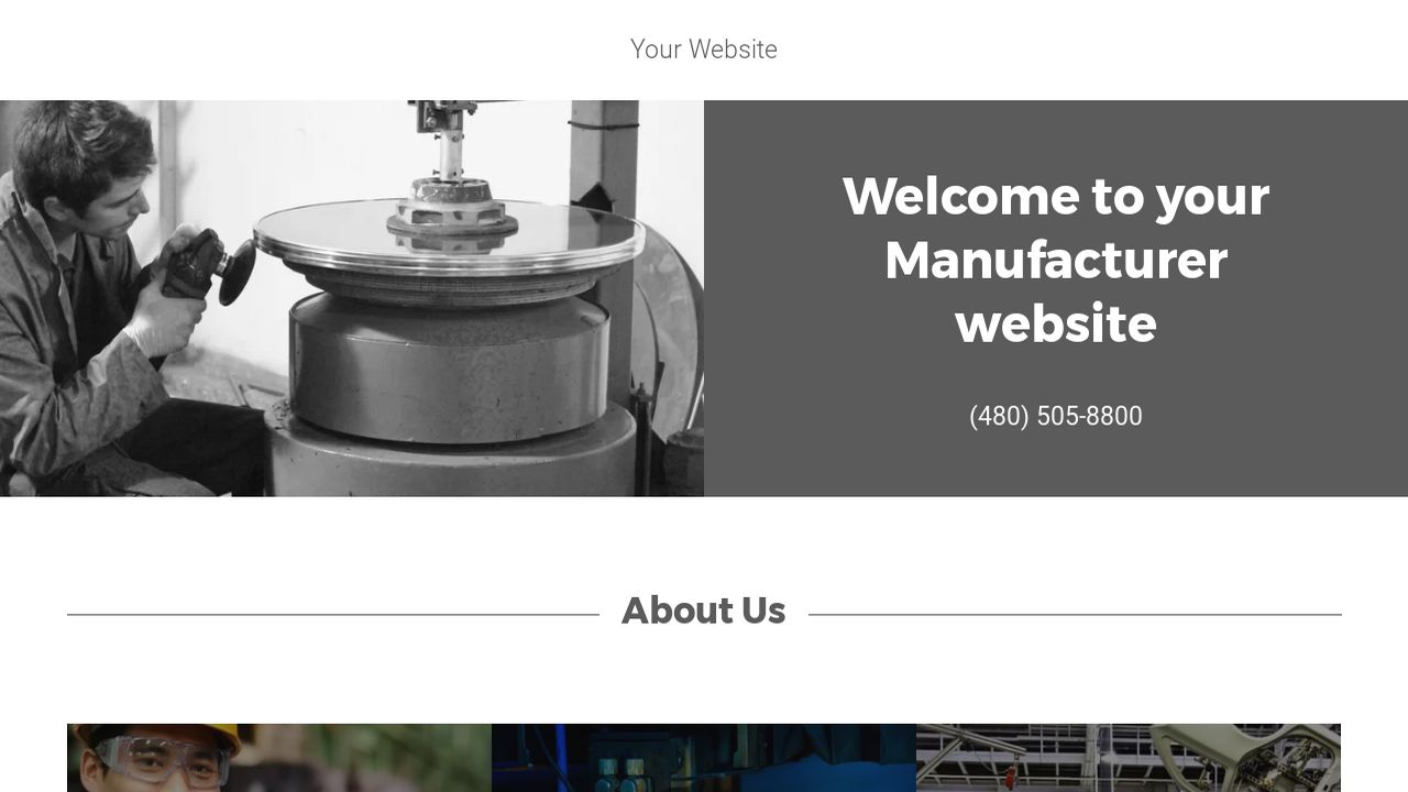 Manufacturer Website Templates Godaddy