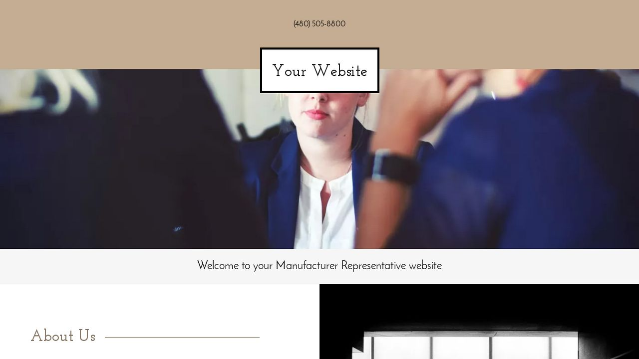 Manufacturer Representative Website: Example 1