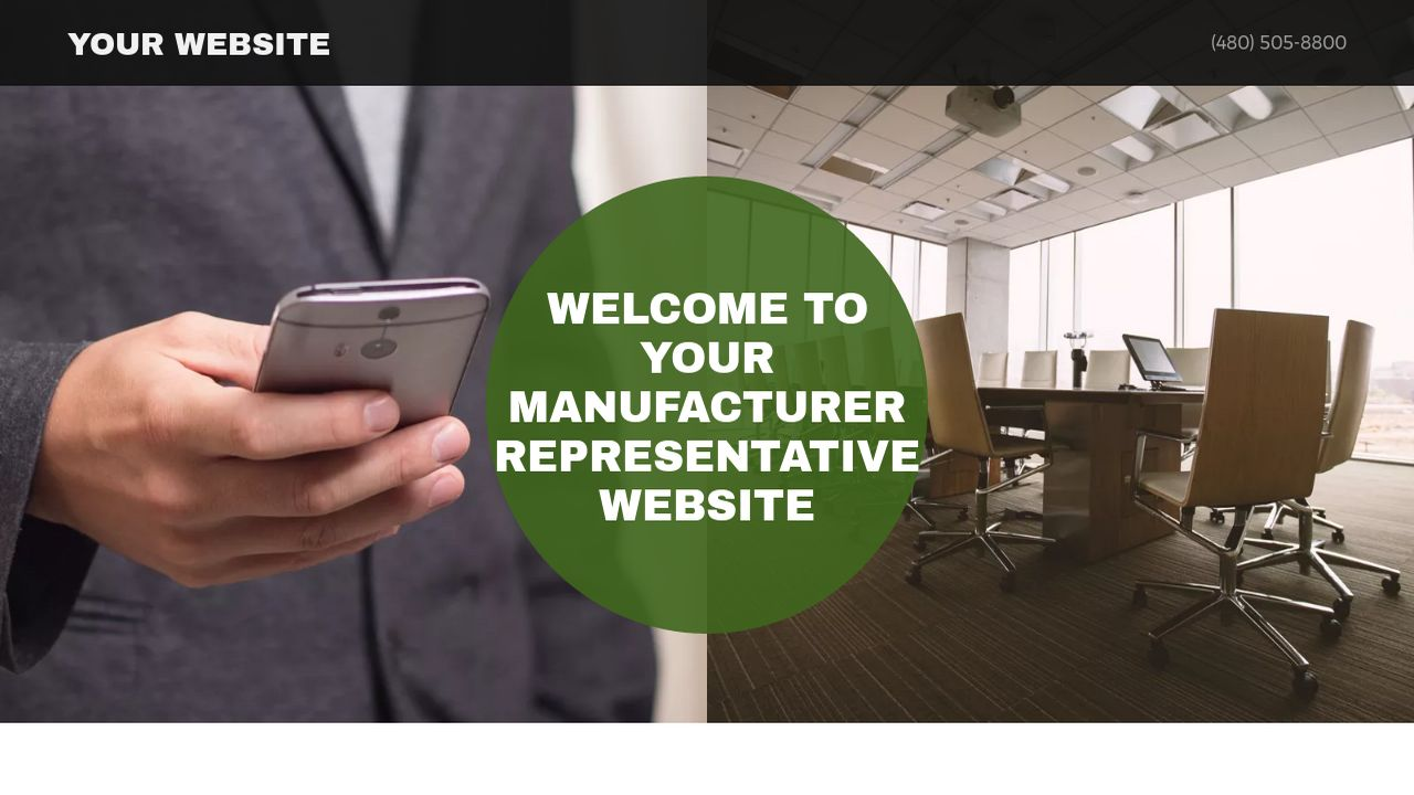 Manufacturer Representative Website: Example 17