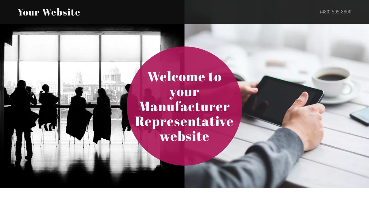 Manufacturer Representative Website: Example 3