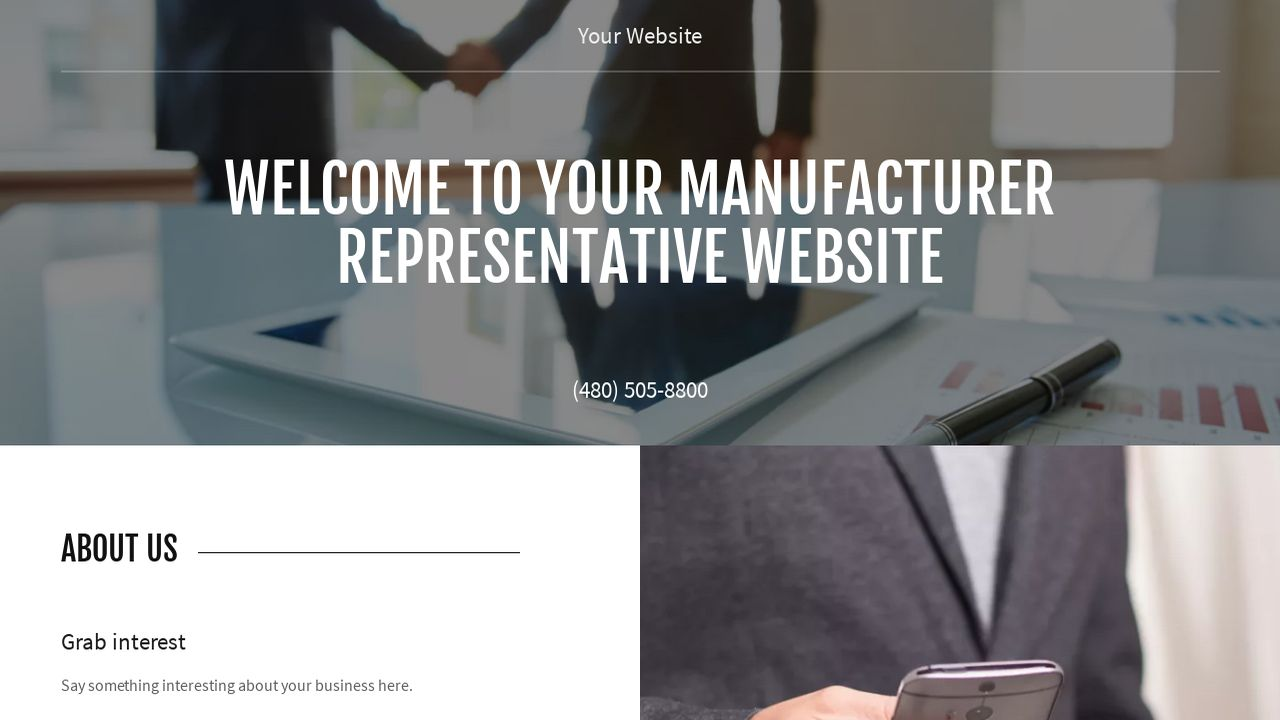 Manufacturer Representative Website: Example 6