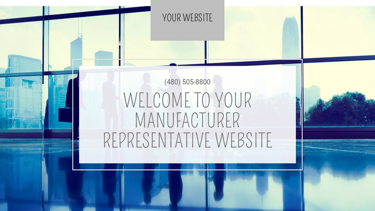 Manufacturer Representative Website: Example 9