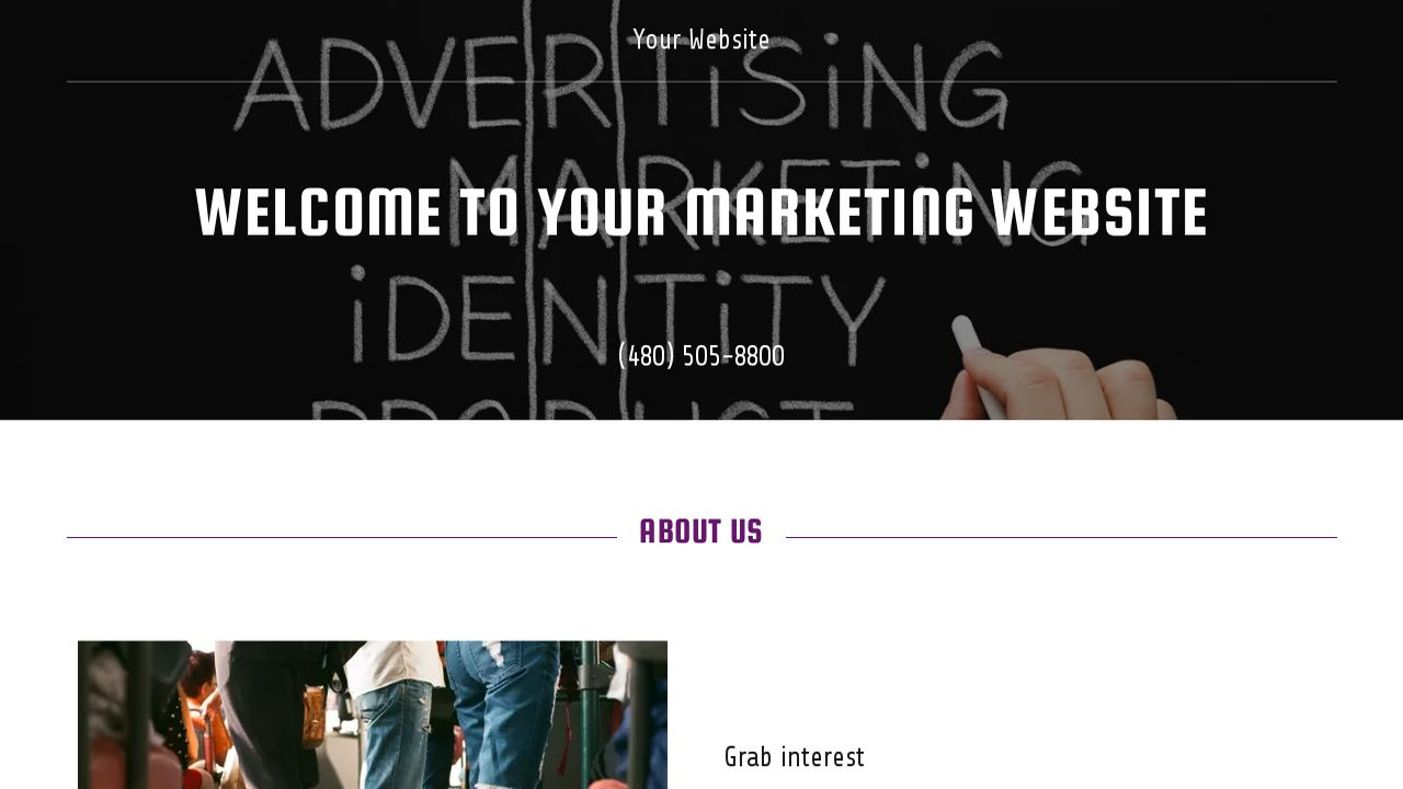 Marketing Website: Example 13