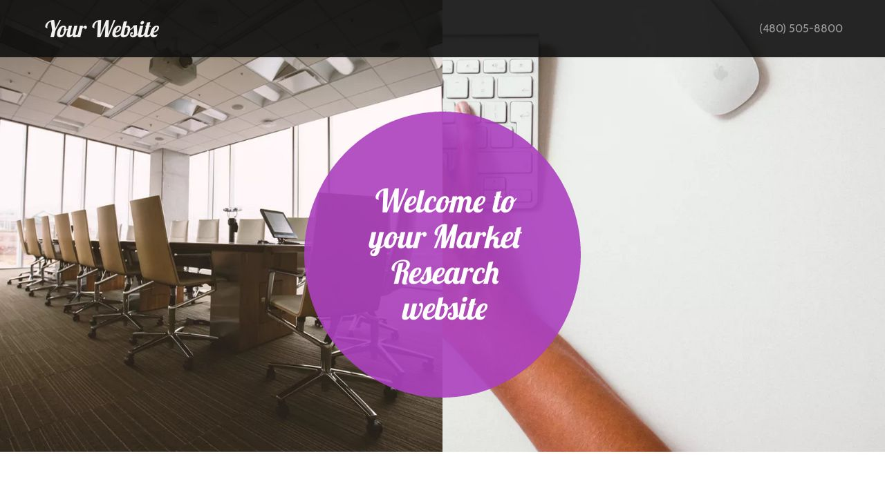 Market Research Website Templates GoDaddy