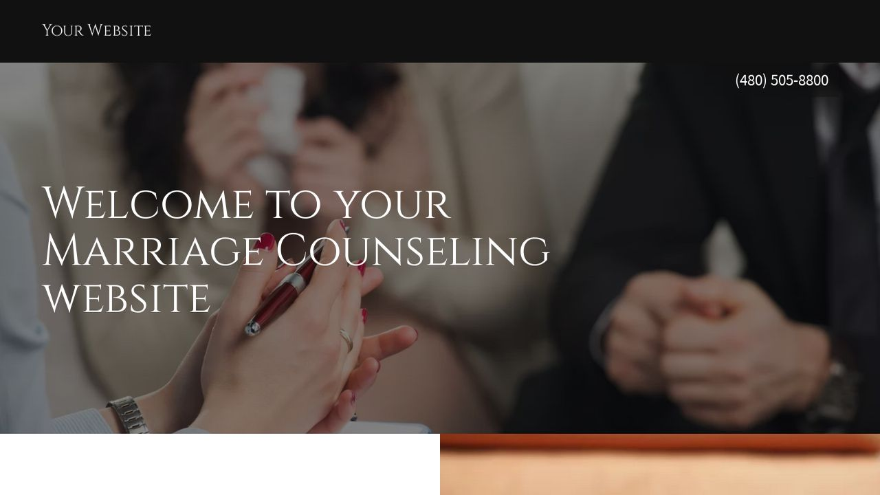 Marriage Counseling Website: Example 1