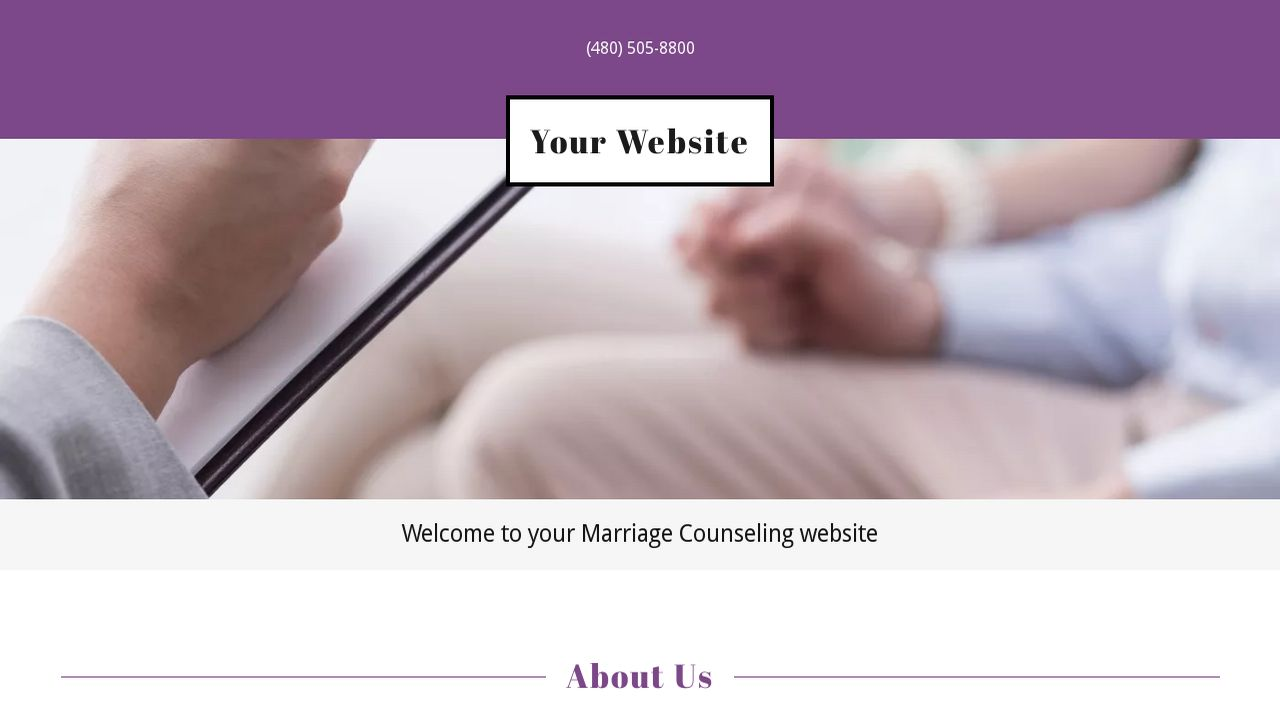 Marriage Counseling Website: Example 3